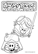 Angry Birds Star Wars Coloring Pages Pigs Angry Birds Star Wars