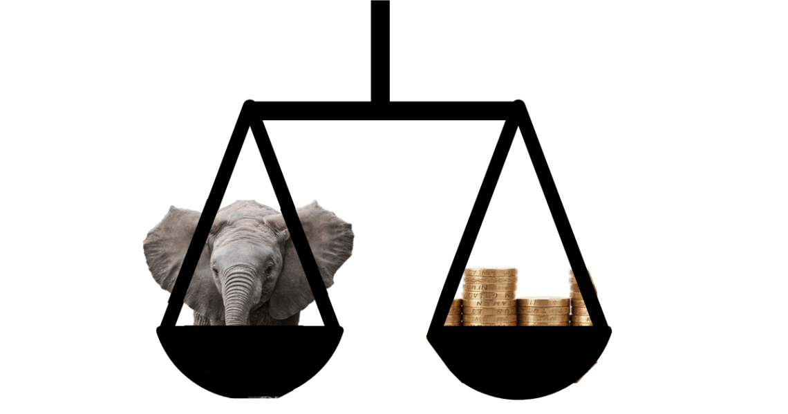 Weight of an Elephant compared to Gold Bars