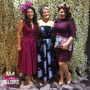 L-R Beautiful Fashions on the Field Winner Sarah from SFH Designs, me and the gorgeous Stacey McGregor