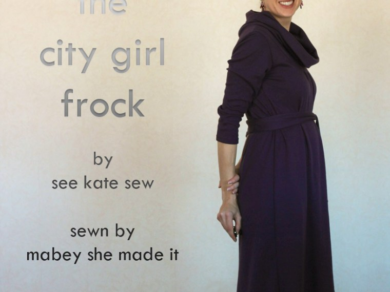 City Girl Frock   Mabey She Made It #sewing #justaddjeans #patternanthology #dress #pattern review