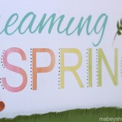 Dreaming of Spring Art and FREE Cut File