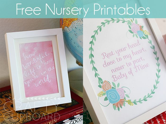Free Nursery Printables by Crafty Cupboard | Mabey She Made It #nestingtonewborns #freeprintable #nursery
