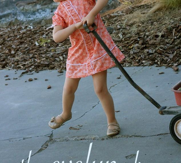 Evelyn Dress by Peek-A-Boo Patterns   Mabey She Made It #kidsclothesweek #sewingforkids