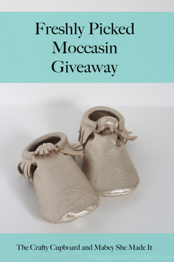Freshly Picked Giveaway | Mabey She Made It #nestingtonewborns #freshlypicked #moccasins