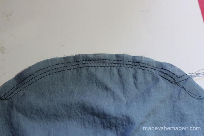 Gorgeous Gathers | Mabey She Made It #sewingtips #sewingtricks #gatheringfabric