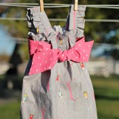 Little Gray Ava Dress (Ruched Sundress)