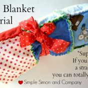 Ragged Baby Blanket Tutorial by Simple Simon and Company