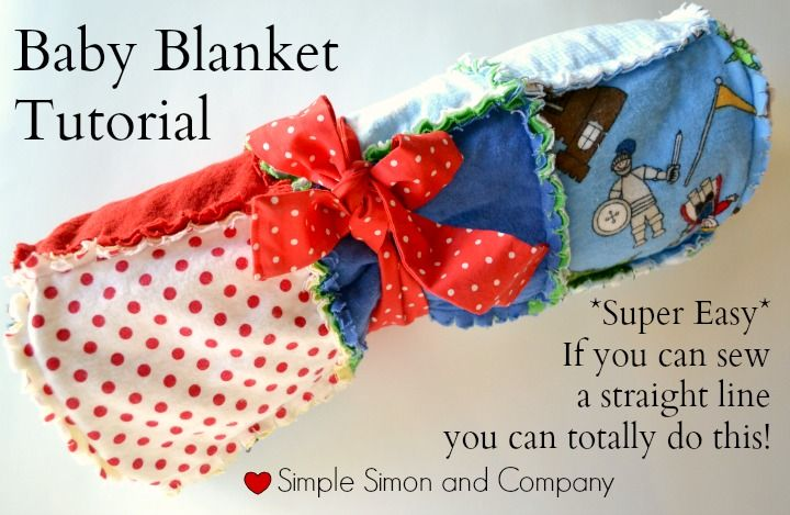 Ragged Baby Blanket Tutorial  by Simple Simon and Company | Mabey She made It #nestingtonewborns #babyquilt #baby