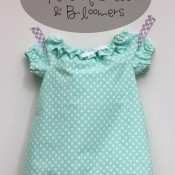 Ruffled Peasant Dress & Bloomers | Mabey She Made It #nestingtonewborns #baby #sewing #peasantdress