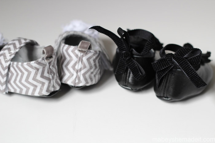 Making Professional Baby Shoes | Mabey She Made It #babyshoes #sewing #joyfolie