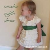 Muslin Ruffle Dress