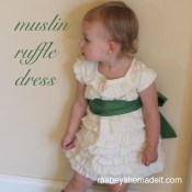 Muslin Ruffle Dress