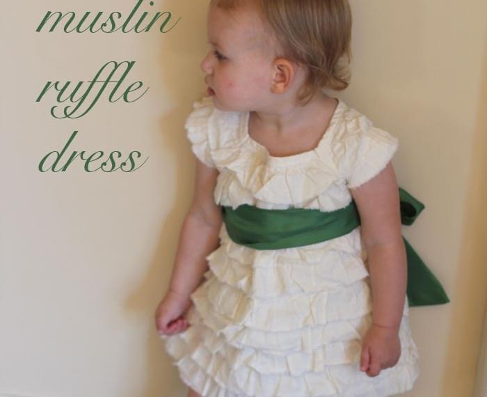 Muslin Ruffle Dress   Mabey She Made It #sewing #sewingforkids #dresses