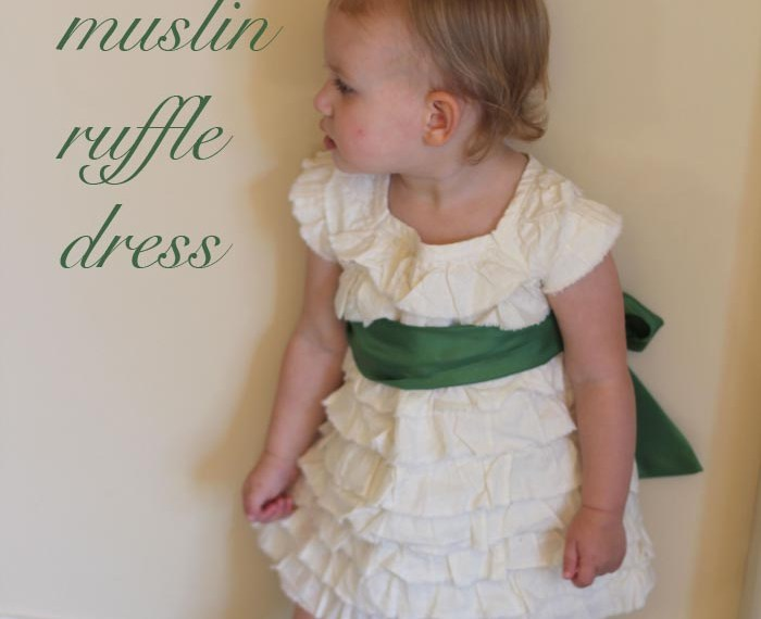 Muslin Ruffle Dress | Mabey She Made It #sewing #sewingforkids #dresses
