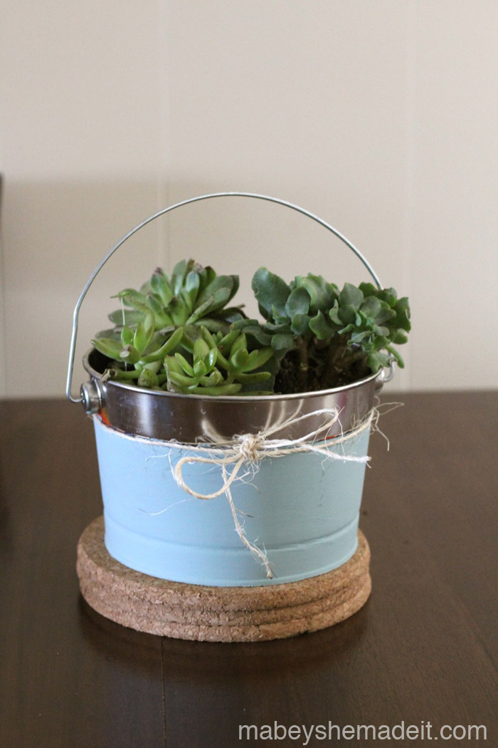 Succulent Centerpiece | Mabey She Made It #succulent #centerpiece