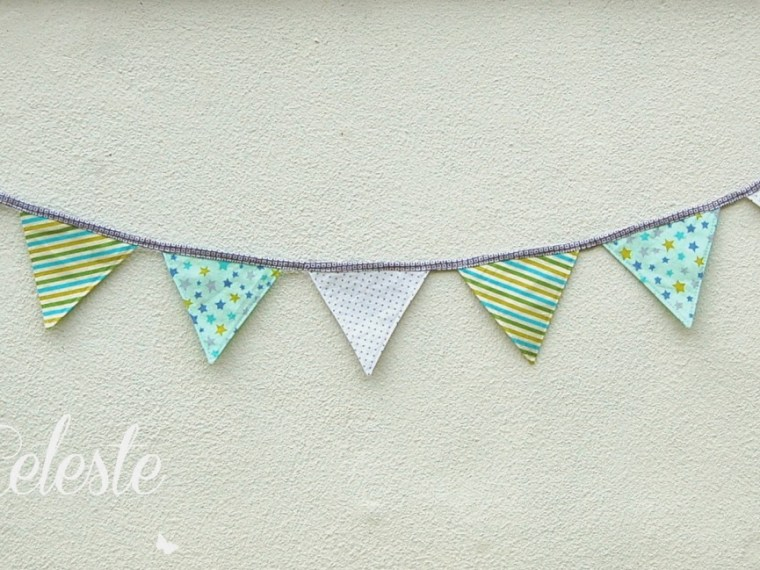 Baby Bunting Tutorial {Lulu & Celeste} | Mabey She Made It | #bunting #sewing #garland #babyshower