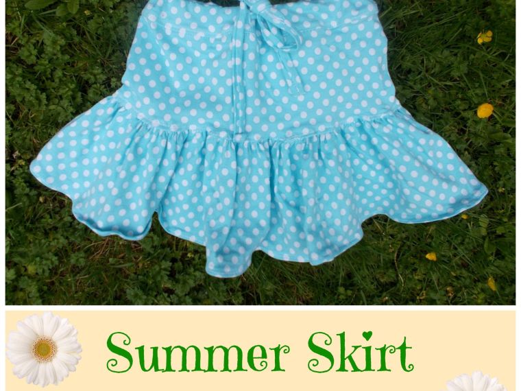 Easy Summer Skirt Tutorial by On the Cutting Floor | Mabey She Made It | #skirt #sewingforkids #summer