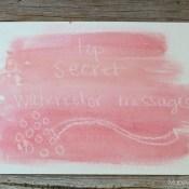 Top Secret Watercolor Messages