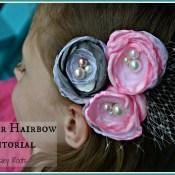 Flower Hairbow Tutorial