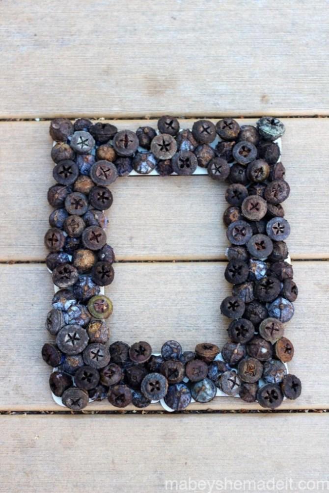 Metallic Acorn Wreath   Mabey She Made It   #wreath #autumn #acorn #homedecor