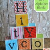 DIY Alphabet Blocks Tutorial