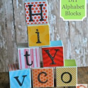 DIY Alphabet Blocks Tutorial