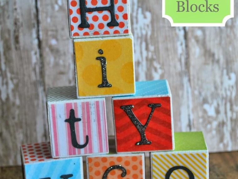 DIY Alphabet Blocks by A Glimpse Inside   Mabey She Made It   # DIY #alphabet #school #blocks