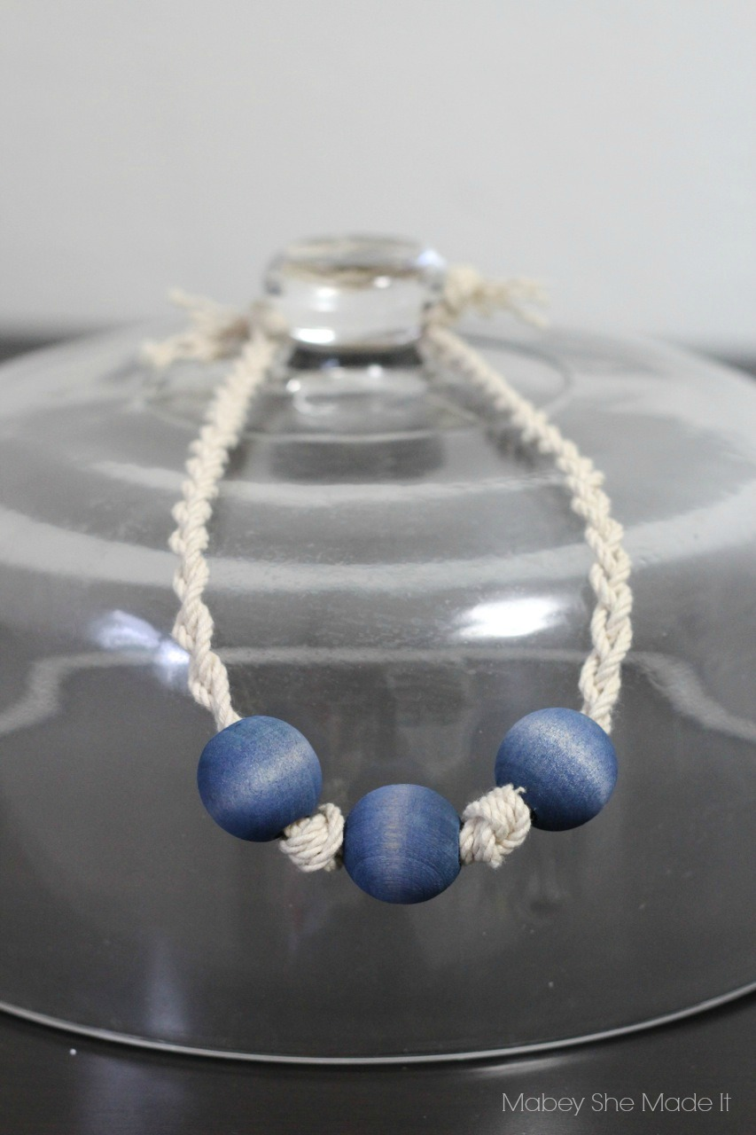 Tie Dye Bead Necklaces | Mabey She Made It | #tdys #tiedyeyoursummer #necklace #jewlery #dye