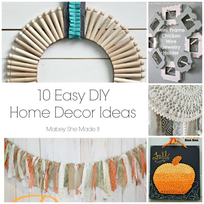10 Easy DIY Home Decor Ideas | Mabey She Made It | #homedecor #DIY #fall #autumn #pumpkin #dreamcatcher #wreath