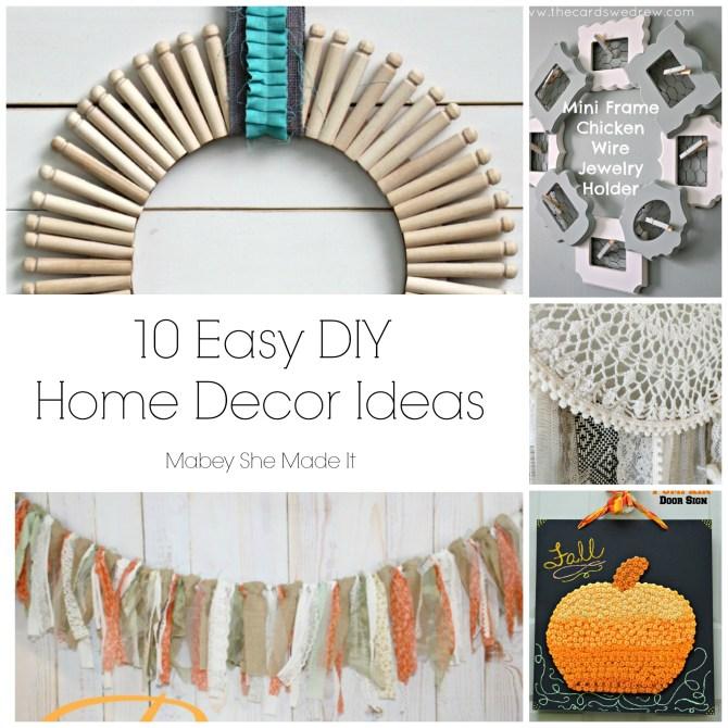 10 Easy DIY Home Decor Ideas   Mabey She Made It   #homedecor #DIY #fall #autumn #pumpkin #dreamcatcher #wreath