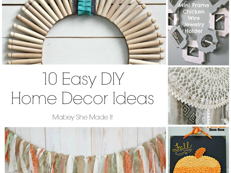 10 Easy DIY Home Decor Ideas | Mabey She Made It | #homedecor #DIY #fall #autumn #pumpkin #dreamcatcher #wreath