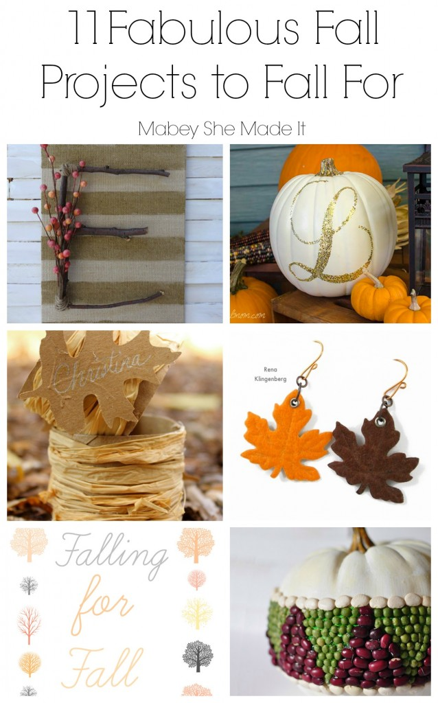 11 Fabulous Fall Projects Roundup | Mabey She Made It | #fall #autumn #falldecor #autumndecor #pumpkin #leaves #printables