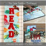 No Sew Toddler Bookmark