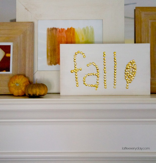 DIY-Gold-Studded-Fall-Sign-Latte-Everyday