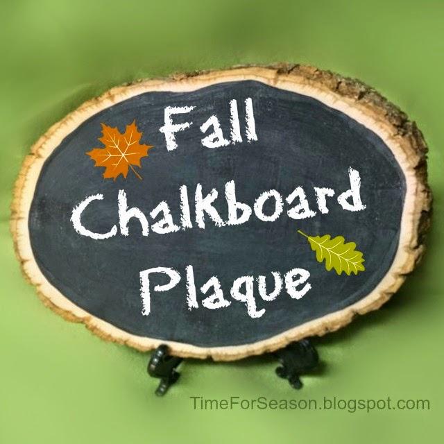 Fall Chalkboard Plaque 9