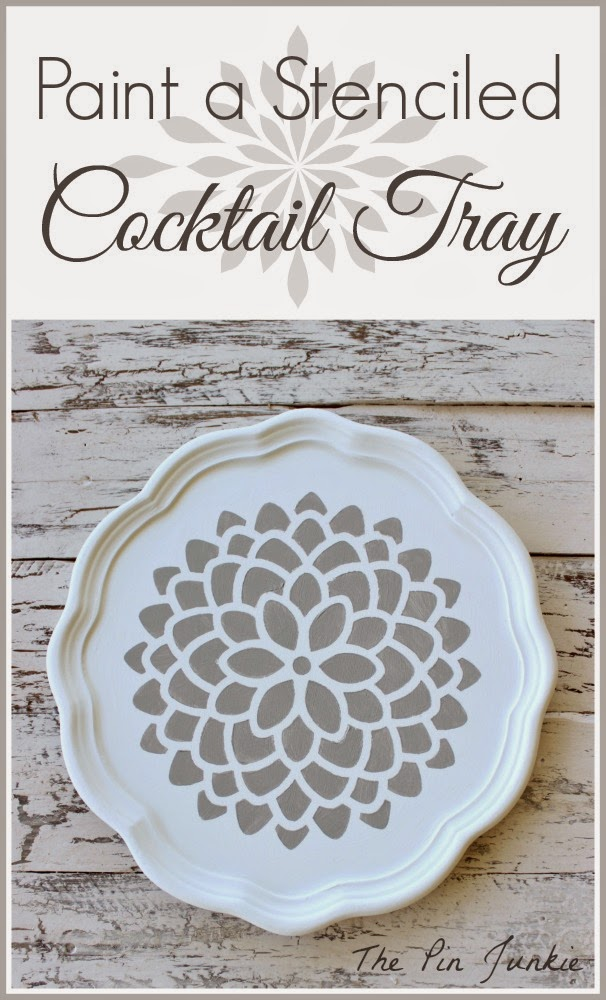 painted stenciled tray