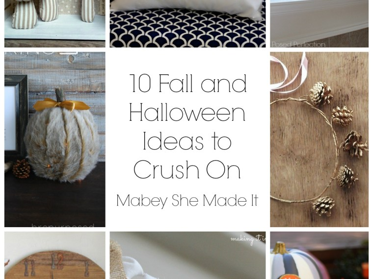 10 Fall and Halloween Ideas to Crush On | Mabey She Made It | #halloween #falldecor #sewing #pumpkins