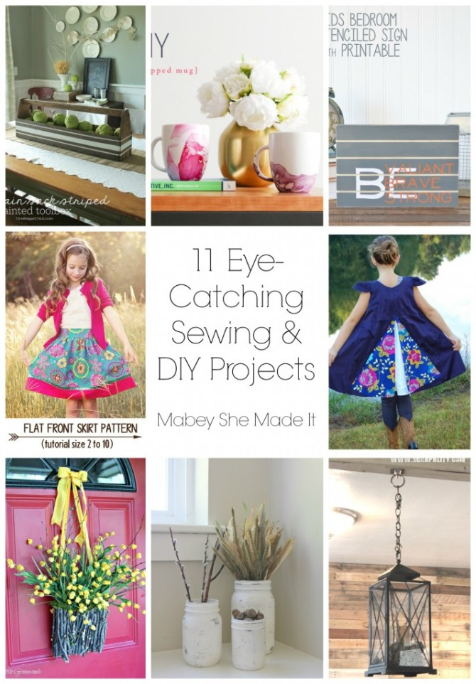 11 Eye-Catching Sewing and DIY Projects | Mabey She Made It | #sewing #DIY