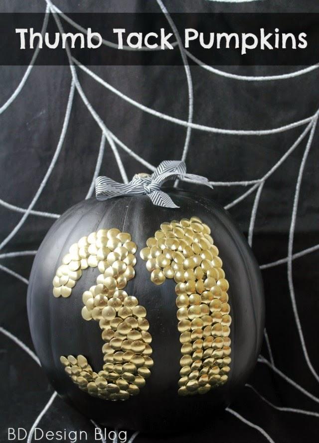 Thumb Tack Pumpkins Pinterest