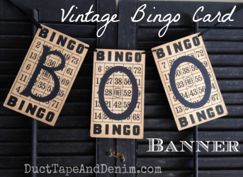 Vintage-BINGO-card-BOO-Banner.-Simple-Halloween-craft-Tutorials-on-DuctTapeAndDenim.com_