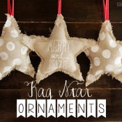 Rag Star Ornament