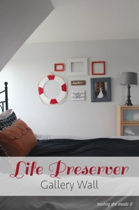 Life Preserver Gallery Wall   Mabey She Made It   #gallerywall #nautical #lifepreserver #cutitout