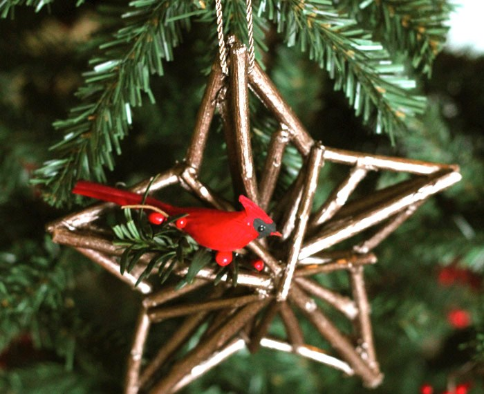 Woodland Star Ornament | Mabey She Made It | #christmas #ornament #star