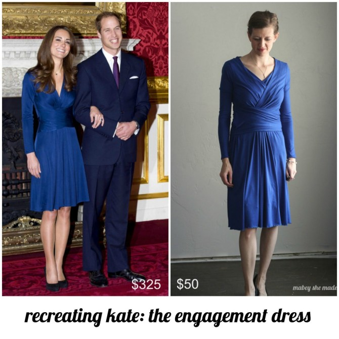 Recreating Kate: Issa Engagement Dress | Mabey She Made It | #katemiddleton #katemiddletonstyle #katemiddletonfashion #recreatingkate