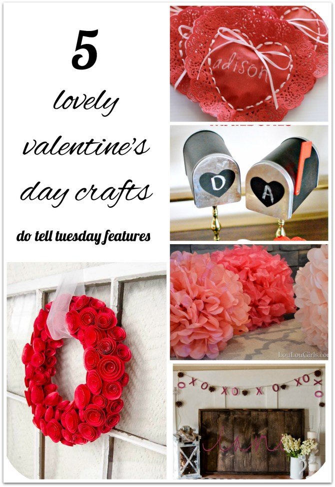 2 Lovely Valentine's Day Crafts || Mabey She Made It | #valentine #dotelltuesday