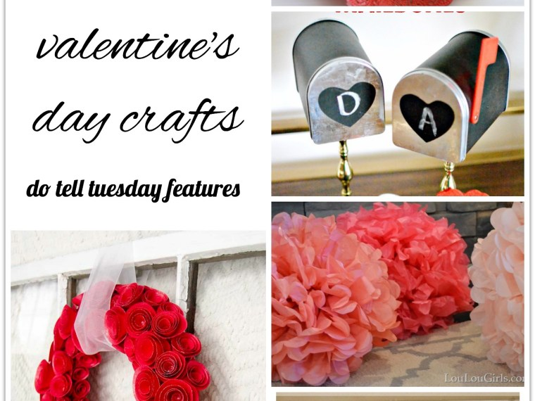 2 Lovely Valentine's Day Crafts || Mabey She Made It | #valentine #dotelltuesday