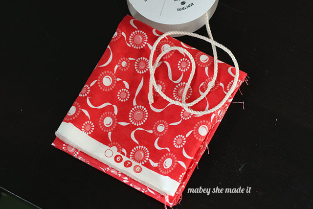 How to make a Drawstring Gift Bag | Mabey She Made It