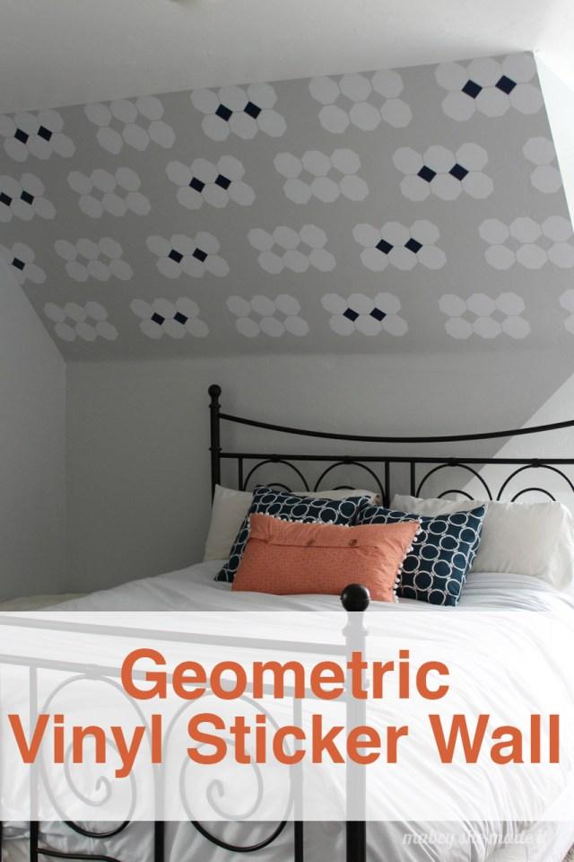 Geometric Vinyl Sticker Wall Tutorial | Mabey She Made It