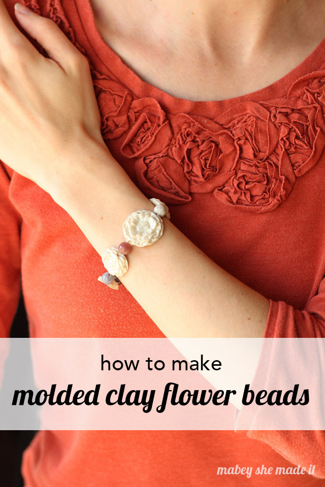 Make molded clay flowers with this beginner's polymer clay tutorial.