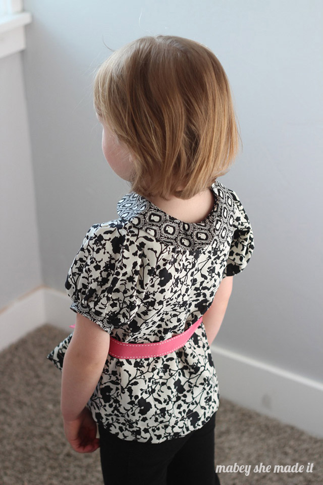 Pattern review of the a-line a la mode dress by Blank Slate Patterns sewn by Mabey She Made It